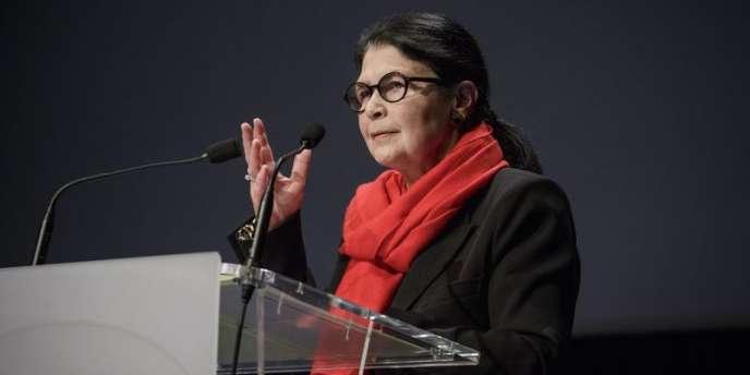 Jacqueline Sanson, en février 2014, à l'occasion des 20 ans de la Bibliothèque nationale de France.