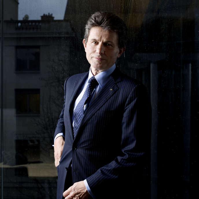 Henri de Castries, PDG du groupe d'assurance AXA, à Paris le 20 février.