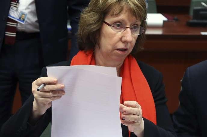 Catherine Ashton, la chef de la diplomatie européenne, le 20 février à Bruxelles.