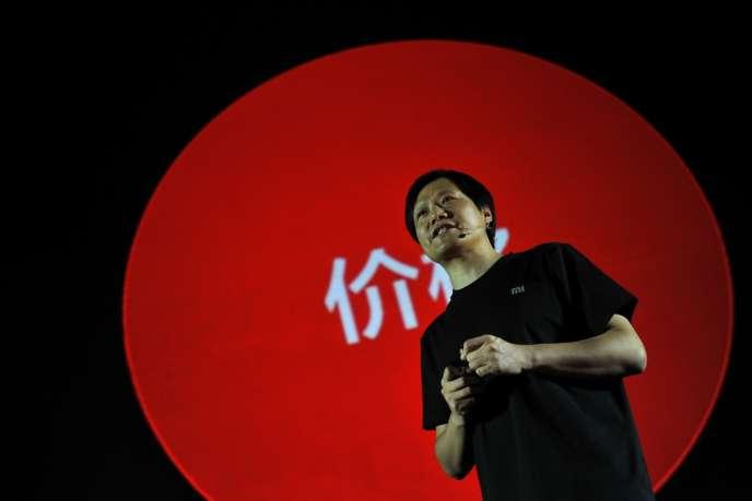 Lei Jun, PDG de Xiaomi, lors de la présentation du nouveau smartphone Mi3, le 5 septembre 2013.