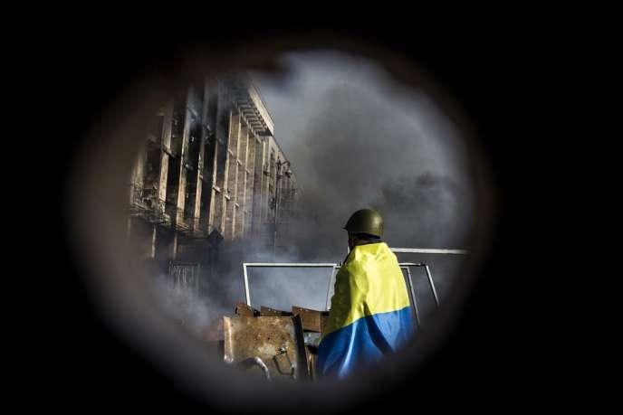 A Kiev, sur la place de l'indépendance, le 19 février.