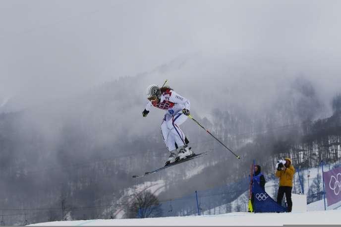 Grosse déception pour la Française Ophélie David, quatrième de la finale du skicross aux JO 2014.