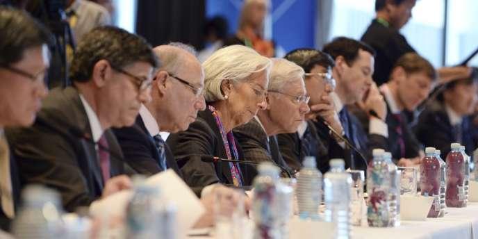 Christine Lagarde, directrice générale du Fonds monétaire international, à Sydney, vendredi 21 février, lors d'une réunion préparatoire au G20-finances.