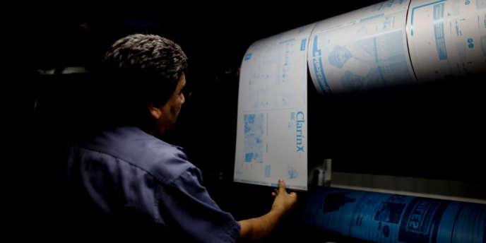 A l'imprimerie du quotidien argentin « Clarin », à Buenos Aires, en novembre 2012.