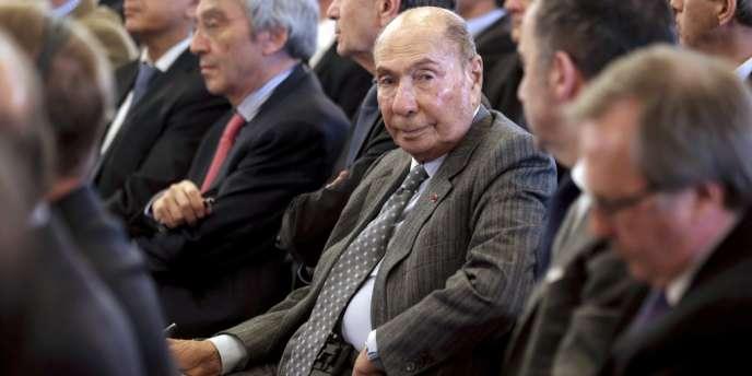 Le sénateur UMP Serge Dassault, le 17 février 2014.
