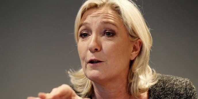 Marine Le Pen,  le 17 février à Reims.