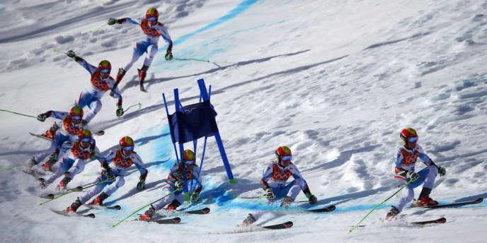 Marcel Hirscher, quatrième du slalom géant, le 19 février.