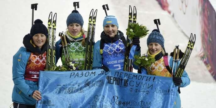 Le relais ukrainien a remporté la médaille d'or vendredi.
