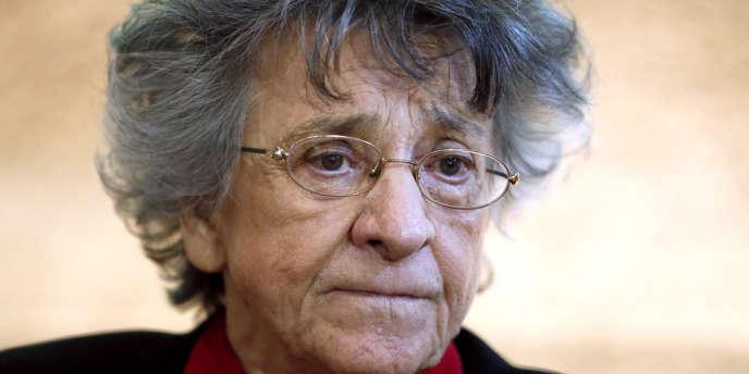 La psychanalyse et militante féministe Antoinette Fouque à Paris, le 22 novembre 2013.