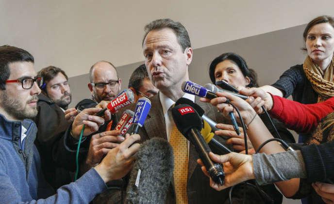 La conférence de presse du procureur d'Annecy, Eric Maillaud, le 19 février.