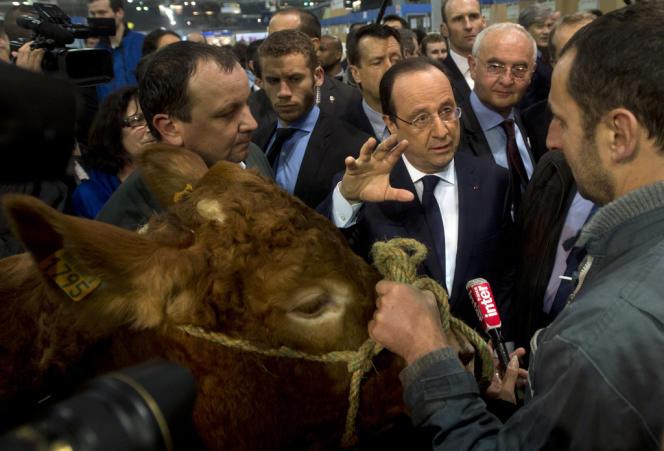 Au Salon de l'agriculture, le 22 février à Paris.