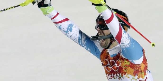 L'Autrichien Mario Matt, 35 ans, peut triompher à l'issue de cette seconde manche du slalom olympique.