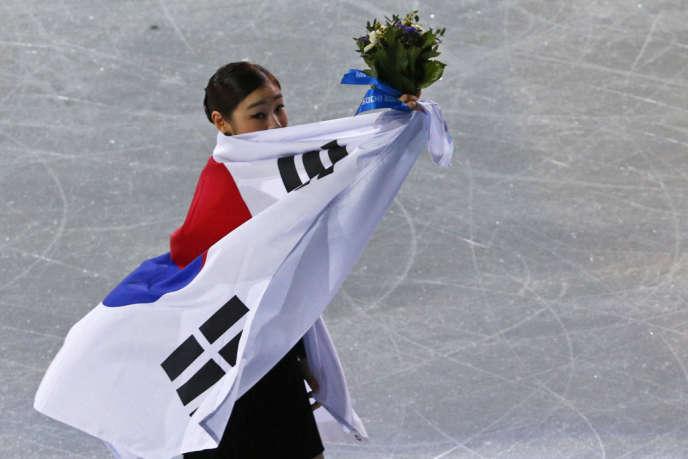 La Sud-Coréenne Kim Yu-na, vice-championne olympique de patinage artistique le 20 février à Sotchi.