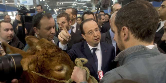 François Hollande visite le Salon de l'agriculture, le 22 février.