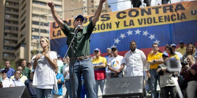 Henrique Capriles, principale figure de l'opposition.