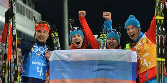 Les biathlètes russes ont dominé, devant leur public, l'Allemagne et l'Autriche.