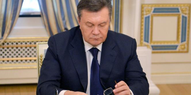 Viktor Ianoukovitch, le 21 février à Kiev.
