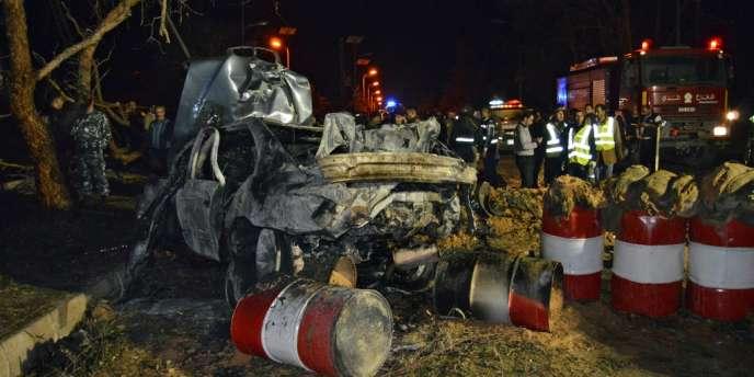Attentat-suicide à la voiture piégée contre un barrage de l'armée à Hermel, dans l'est du Liban, le 22 février.