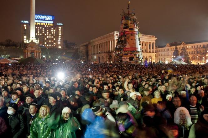 Place de l'indépendance à Kiev, le 22 février.