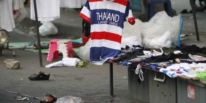 L'explosion a eu lieu devant un supermarché, dans un quartier qui compte plusieurs centres commerciaux, le 23 février à Bangkok.