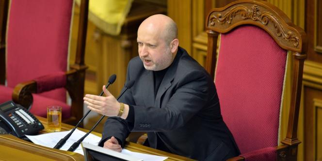 Le président du Parlement et désormais président par intérim de l'Ukraine, Olexandre Tourtchinov, dimanche 23 février.