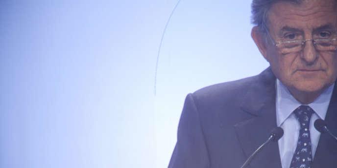 Jean-René Fourtou, le président du conseil de surveillance de Vivendi, lors de l'assemblée générale du groupe, en avril 2013.