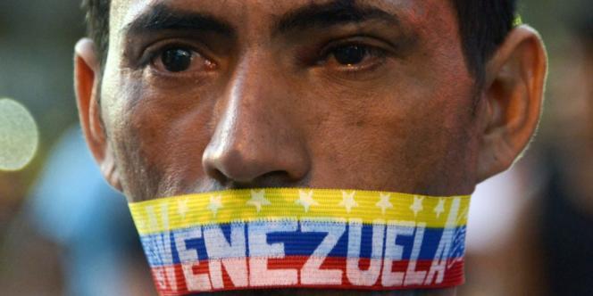 Manifestation anti-gouvernement le 23 février à Caracas.