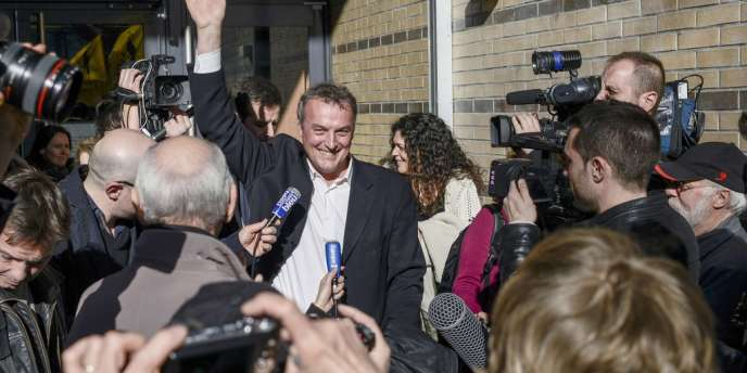 Le viticulteur Emmanuel Giboulot devant le tribunal correctionnel de Dijon, lundi24février, après son procès.