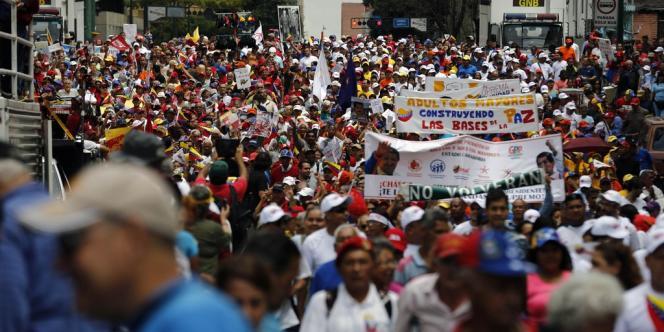 Manifestation de soutien au gouvernement de Maduro, le 23 février.