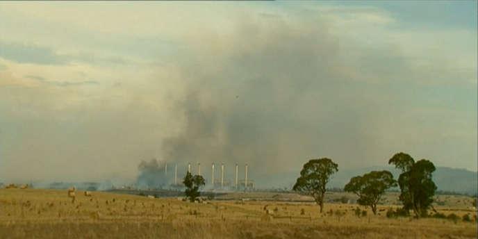 A Morwell, dans le sud de l'Australie, une mine exploitée par GDF Suez est en feu, depuis le 9 février.