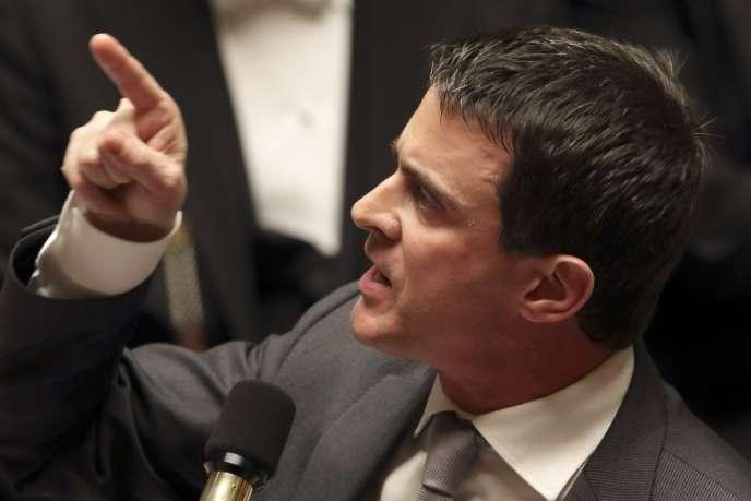 Manuel Valls, le 25 février à l'Assemblée nationale.