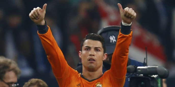 Christiano Ronaldo après la victoire du Real Madrid contre Schalke 04, mercredi en huitième de finale aller de la Ligue des Champions.