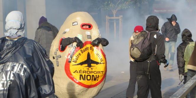 La manifestation des opposants à l'aéroport de NDDL, samedi 22 février à Nantes, a dégénéré.