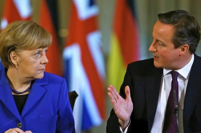 Angela Merkel et David Cameron, le 27 février à Downing Street à Londres.