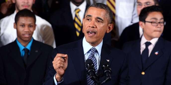 Barack Obama, lors de la présentation du programme My Borther's Keeper, à destination des jeunes issus des minorités.