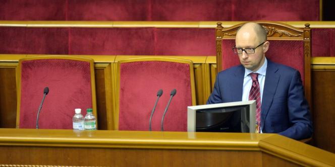 Arseni Iatseniouk, en février.
