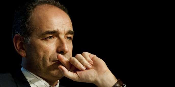 Jean-François Copé, venu supporter la candidate UMP aux municipales de mars Laurence Garnier, le 26 février à Nantes.