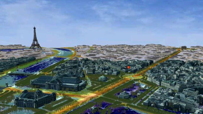 Le logiciel 3D Aircity permettra demain de rendre visible la pollution, en tout point d'une ville.