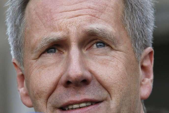 Christian Wulff, le 27 février, après sa relaxe par le tribunal de Hanovre.