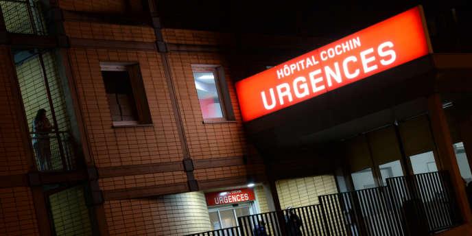 Les urgences de l'hôpital Cochin, dans le 14e arrondissement de Paris, le20février2014.