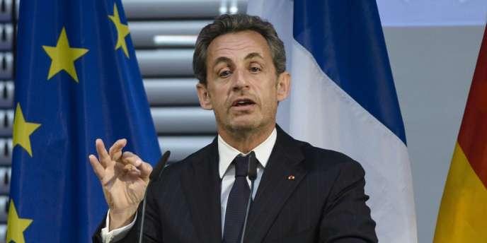 Nicolas Sarkozy à Berlin, le 28 février.