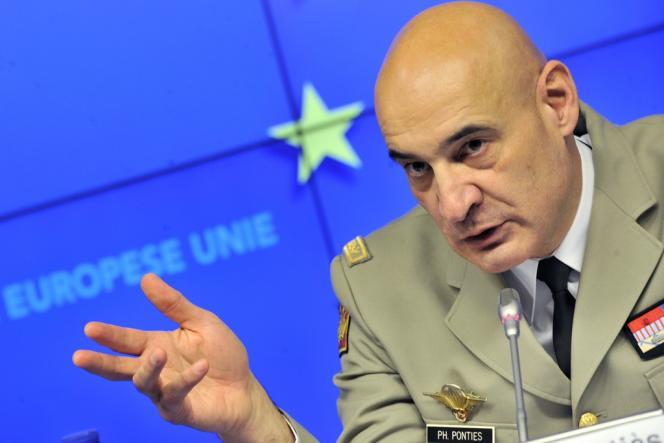 Le général Philippe Pontiès, chef de l'opération de l'Union européenne en Centrafrique, le 13 février à Bruxelles.