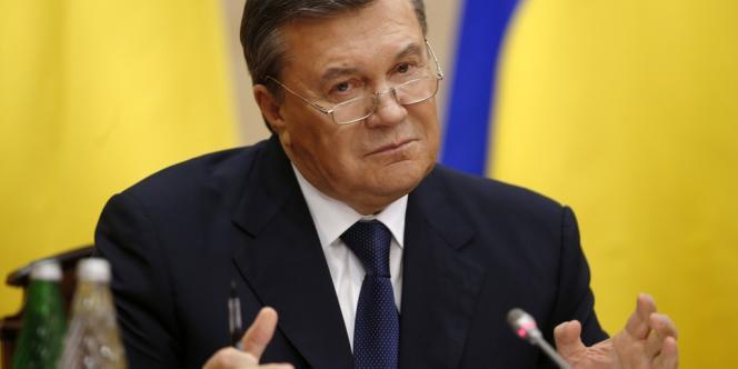 L'ancien président ukrainien Viktor Ianoukovitch s'exprime depuis la Russie, vendredi 28 février, pour la première fois depuis sa destitution.