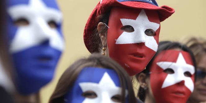 Des partisans de l'opposition vénézuelienne en Floride, le 28 février.