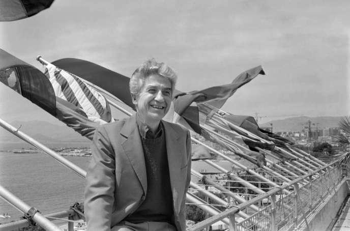 Alain Resnais au Festival de Cannes, en mai 1980.