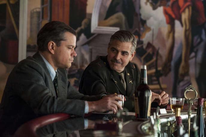 Matt Damon et George Clooney dans le film américain de George Clooney,