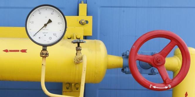 Jauge de pression dans une installation de stockage de gaz à Mryn, au nord de Kiev.