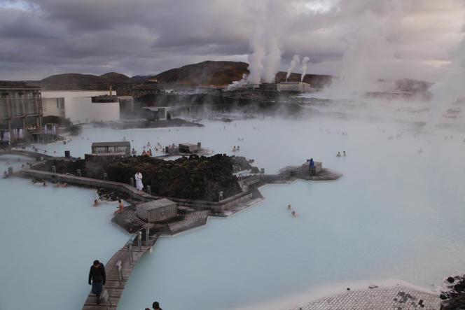 Le centre thermal Blue Lagoon à Grindavik.