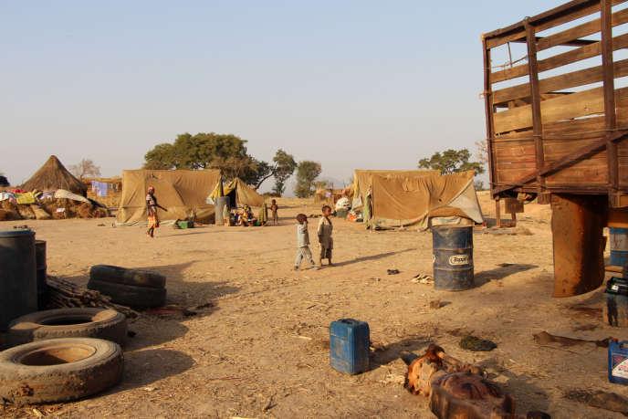 Photo prise par Médecins sans frontières dans le camp de réfugiés de Mbitoye, dans le sud du Tchad, fin février 2014.