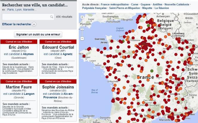 La carte des parlementaires qui pourraient cumuler à l'issue des municipales.